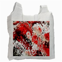Red Fractal Art Recycle Bag (two Side)