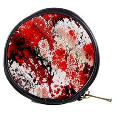 Red Fractal Art Mini Makeup Bags