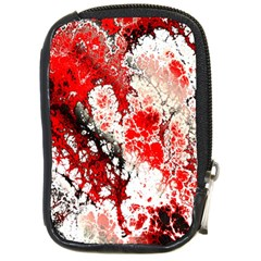 Red Fractal Art Compact Camera Cases