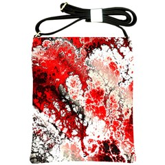 Red Fractal Art Shoulder Sling Bags