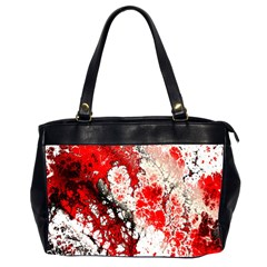 Red Fractal Art Office Handbags (2 Sides)