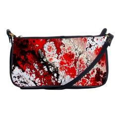 Red Fractal Art Shoulder Clutch Bags