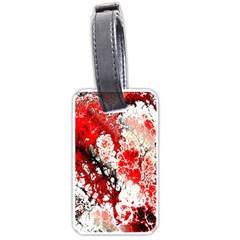 Red Fractal Art Luggage Tags (two Sides)