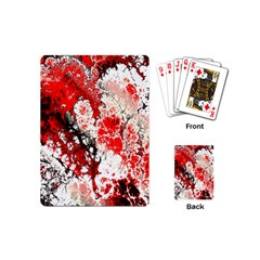 Red Fractal Art Playing Cards (Mini)