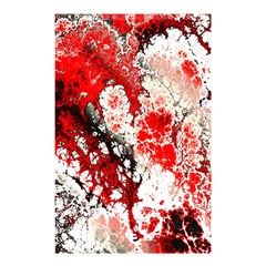 Red Fractal Art Shower Curtain 48  x 72  (Small)