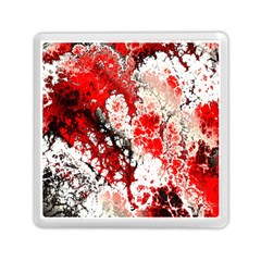 Red Fractal Art Memory Card Reader (square)
