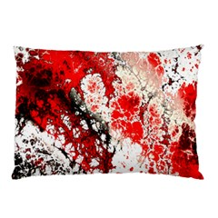 Red Fractal Art Pillow Case (Two Sides)