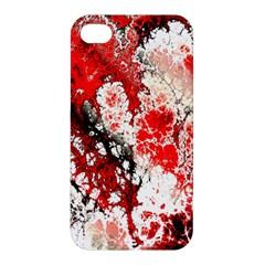 Red Fractal Art Apple iPhone 4/4S Hardshell Case