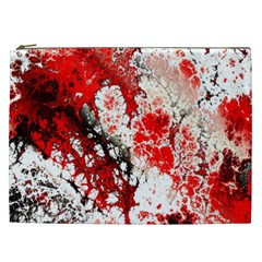 Red Fractal Art Cosmetic Bag (xxl)