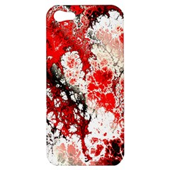 Red Fractal Art Apple Iphone 5 Hardshell Case