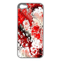 Red Fractal Art Apple Iphone 5 Case (silver)