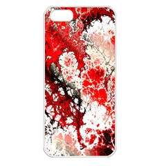 Red Fractal Art Apple Iphone 5 Seamless Case (white)