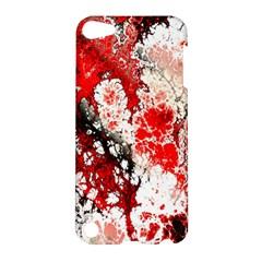 Red Fractal Art Apple Ipod Touch 5 Hardshell Case