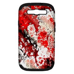 Red Fractal Art Samsung Galaxy S III Hardshell Case (PC+Silicone)