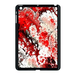 Red Fractal Art Apple Ipad Mini Case (black)