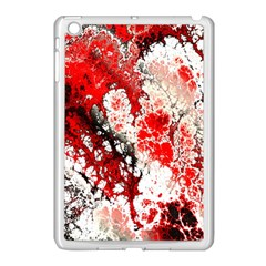Red Fractal Art Apple Ipad Mini Case (white)