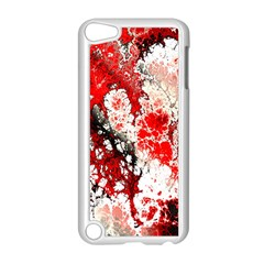 Red Fractal Art Apple Ipod Touch 5 Case (white)