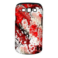 Red Fractal Art Samsung Galaxy S III Classic Hardshell Case (PC+Silicone)