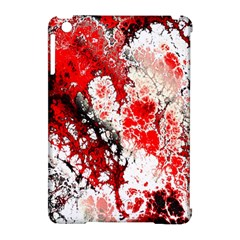 Red Fractal Art Apple iPad Mini Hardshell Case (Compatible with Smart Cover)