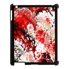 Red Fractal Art Apple Ipad 3/4 Case (black)