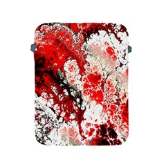 Red Fractal Art Apple Ipad 2/3/4 Protective Soft Cases