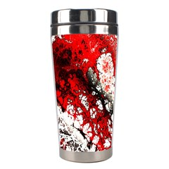Red Fractal Art Stainless Steel Travel Tumblers