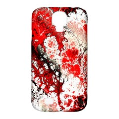 Red Fractal Art Samsung Galaxy S4 Classic Hardshell Case (pc+silicone)