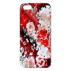 Red Fractal Art iPhone 5S/ SE Premium Hardshell Case