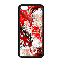 Red Fractal Art Apple Iphone 5c Seamless Case (black)