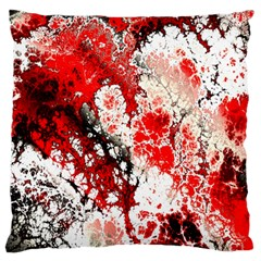 Red Fractal Art Large Flano Cushion Case (two Sides)