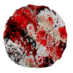 Red Fractal Art Large 18  Premium Flano Round Cushions