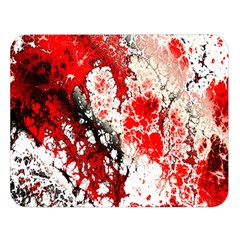 Red Fractal Art Double Sided Flano Blanket (large)