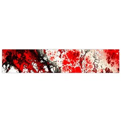 Red Fractal Art Flano Scarf (small)