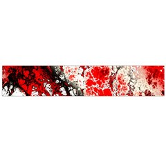 Red Fractal Art Flano Scarf (large)
