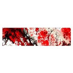 Red Fractal Art Satin Scarf (oblong)