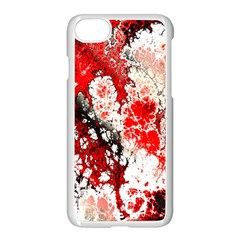 Red Fractal Art Apple Iphone 7 Seamless Case (white)