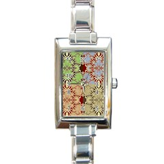 Multicolor Fractal Background Rectangle Italian Charm Watch