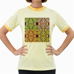 Multicolor Fractal Background Women s Fitted Ringer T-Shirts