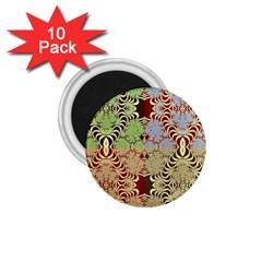 Multicolor Fractal Background 1 75  Magnets (10 Pack)