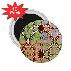 Multicolor Fractal Background 2.25  Magnets (10 pack)