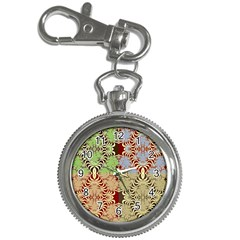 Multicolor Fractal Background Key Chain Watches