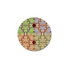 Multicolor Fractal Background Golf Ball Marker (10 Pack)