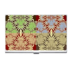 Multicolor Fractal Background Business Card Holders