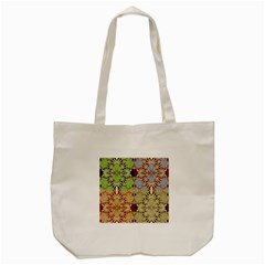 Multicolor Fractal Background Tote Bag (cream)