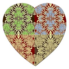 Multicolor Fractal Background Jigsaw Puzzle (heart)