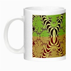 Multicolor Fractal Background Night Luminous Mugs