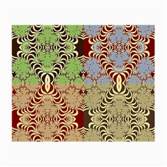 Multicolor Fractal Background Small Glasses Cloth
