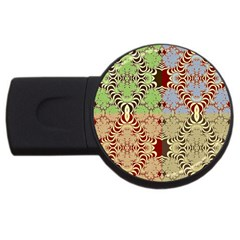 Multicolor Fractal Background Usb Flash Drive Round (4 Gb)
