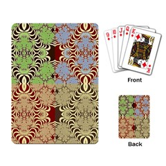 Multicolor Fractal Background Playing Card