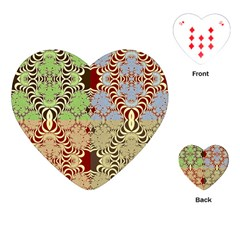 Multicolor Fractal Background Playing Cards (heart)